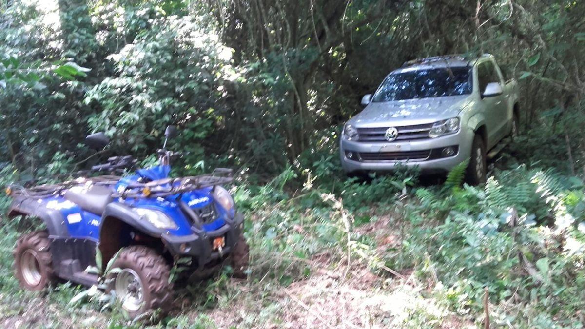 Encontraron en pleno monte de Jardín una camioneta robada en Brasil