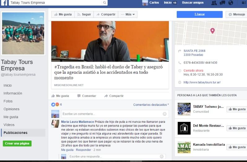 #TragediaEnBrasil: la madre de la coordinadora fallecida arremetió contra el propietario Tabay Tours