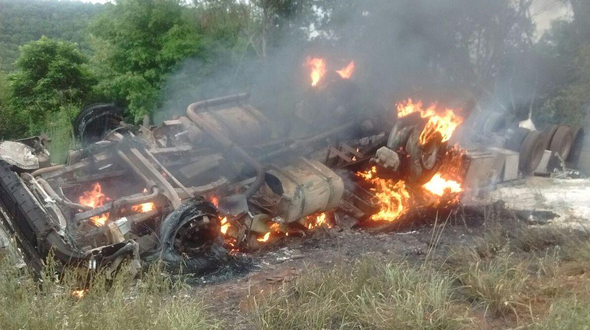 San Pedro: murió calcinada al volcar e incendiarse el camión en el que viajaba