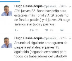 Passalacqua anunció el cronograma de pagos a estatales