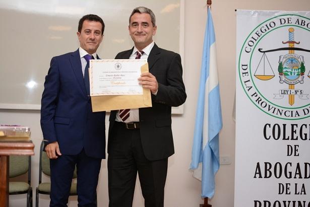 Asumió Ernesto Baez como presidente del Colegio de Abogados