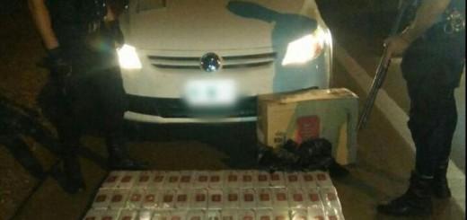 Interceptaron a un automovilista que llevaba ilegalmente gruesas de cigarrillos en San Vicente