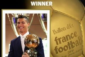 Cristiano Ronaldo es el balón de oro 2016