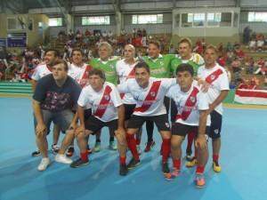 Glorias de River Plate y Guaraní jugaron la Copa Ciudad de Montecarlo