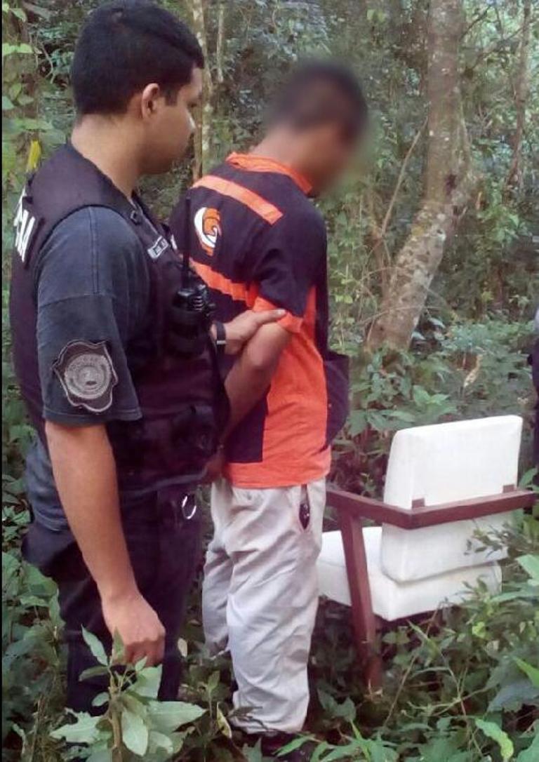Ocultaba un sillón entre la maleza y lo descubrieron: terminó detenido