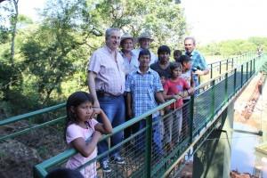 Passalacqua dejó habilitado el puente sobre el arroyo Chafariz