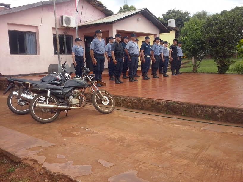 La policía realiza operativos en zonas rurales de Colonia Aurora