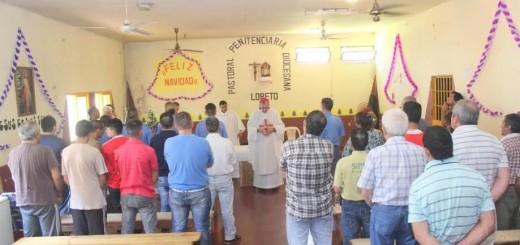 El Obispo Martínez presidió una celebración litúrgica de Navidad en la U.P. I de Loreto