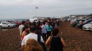 Tras el feriado de ayer también en Encarnación, hoy masivo cruce en el puente