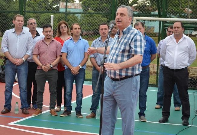 Passalacqua y Morgenstern inauguraron un playón deportivo en Villa Bonita