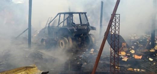 El intendente emitió un comunicado oficial tras el incendio en el corralón municipal de Cerro Azul