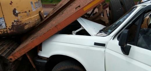 Conductor de una camioneta embistió a una máquina vial en la ruta 12