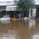 Hicieron asado en medio de la inundación y se volvieron virales