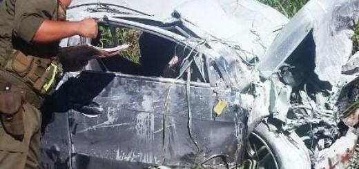 Al menos dos muertos por un choque frontal cerca de Colonia Victoria