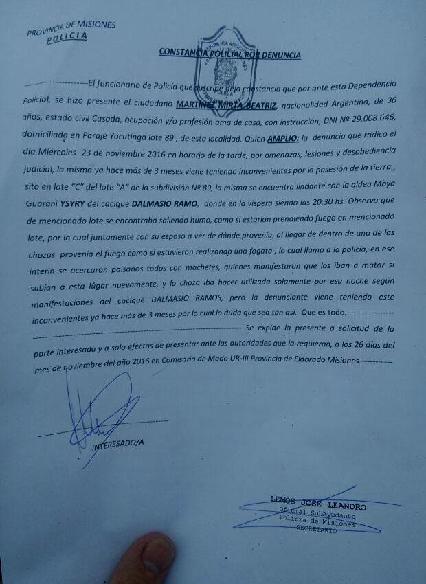 """Propietarios y productores piden seguridad en Mado: """"La Comunidad Ysyry sigue avanzando sobre tierras privadas y el problema se agrava en el municipio"""""""