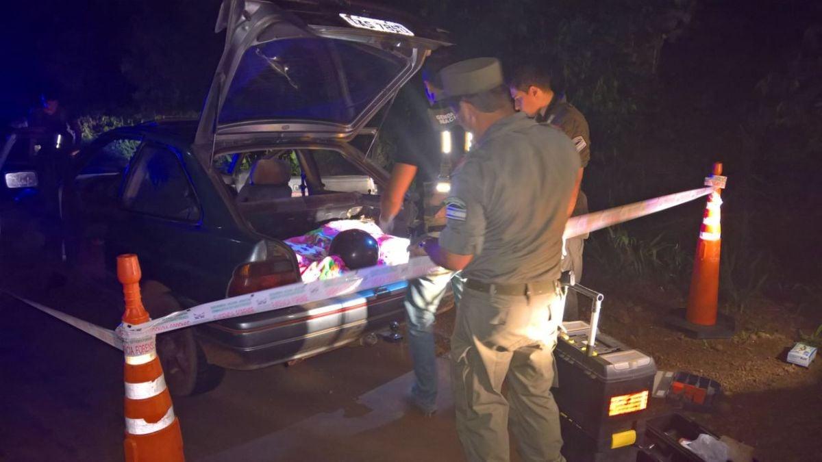 Interceptan cargamento de casi 100 kilos de marihuana en un control de ruta en Aristóbulo