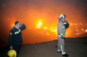 Dramático: Más de la mitad de la comuna chilena de Pumanque fue arrasada por los incendios forestales y ya se perdieron 25 mil hectáreas