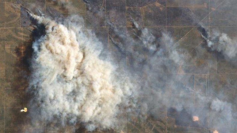 Los incendios en La Pampa, Buenos Aires y Río Negro ya arrasaron más de un millón de hectáreas