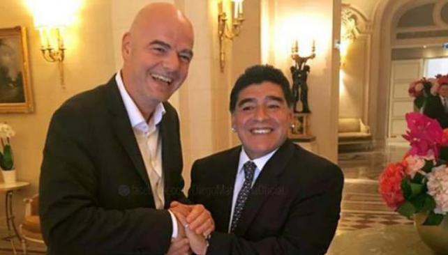 Maradona: «Infantino tiene los huevos rotos con Argentina»