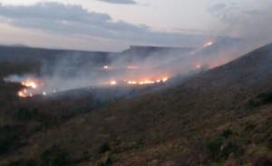 Se encuentra fuera de control el incendio rural en Junín de los Andes