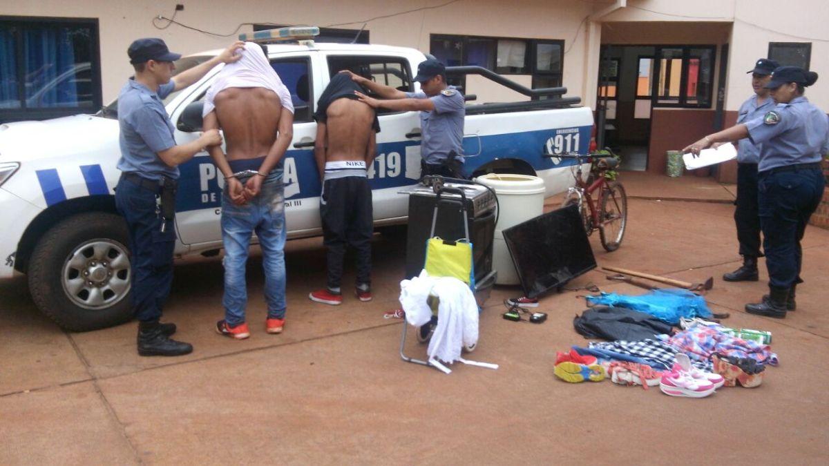 Atraparon in fraganti a dos ladrones de casas