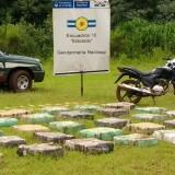 Gendarmería secuestró más de 940 kilos de marihuana y detuvo a un hombre en Eldorado