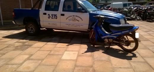 Acorralado por la Policía, ladrón abandonó una moto robada en un malezal de Campo Grande