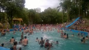 Miles de personas visitaron el camping municipal Salto Berrondo en Oberá