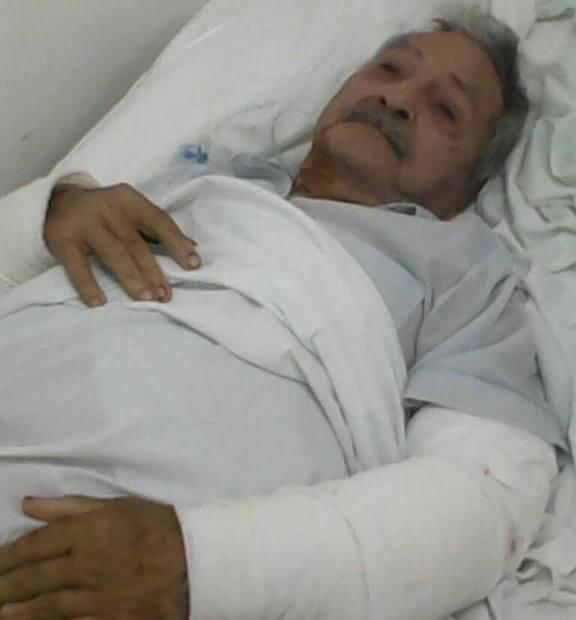 Posadas: Un abuelo quedó internado tras ser brutalmente atacado por una pareja de pitbulls de su propio hijo