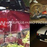 Accidente en Eldorado: los rozó un camión y terminaron internados