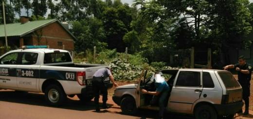 Decomisaron en Eldorado un auto robado en Brasil