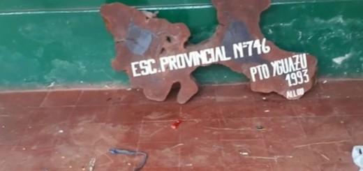 En Iguazú utilizan una escuela como aguantadero