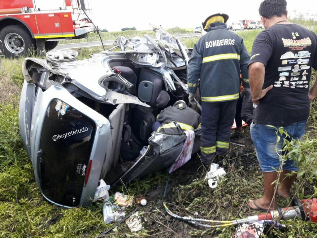 En Brasil chocaron cuatro autos argentinos: hay un muerto y once heridos