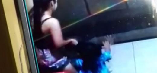 En Iguazú filmaron cuando una niñera golpea y trata con brutalidad a una nena de dos años y ahora la busca la Policía