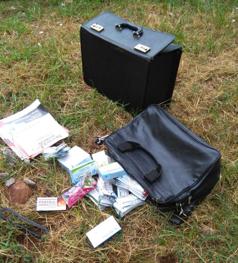 Arrebatadores se llevaron medicamentos de un visitador, pero la Policía pudo atraparlos