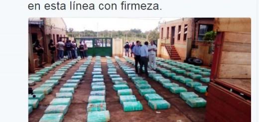 El Gobernador Passalacqua celebró el operativo antidroga que realizó la Policía, y que permitió secuestrar casi 4 mil kilos de droga