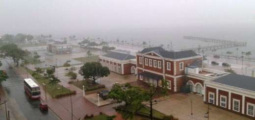 Llueve en Posadas: rige el alerta por tormentas fuertes en las zonas Sur y Centro de la provincia