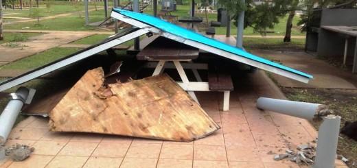Posadas: la tormenta causó destrozos en las instalaciones del Club Pirá Pytá