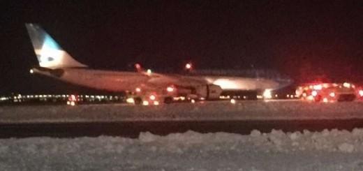 Un avión de Aerolíneas Argentinas se prendió fuego en Nueva York