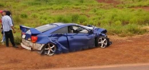 Auto deportivo casi ocasiona una tragedia en Virasoro