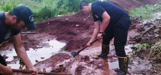Bomberos Voluntarios de Posadas continúan asistiendo a los damnificados por el temporal