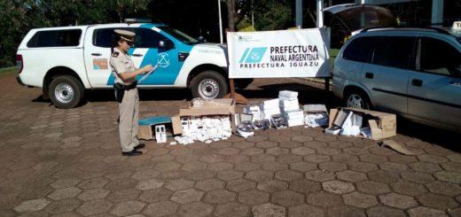 Iguazú: Prefectura detuvo un taxista que transportaba mercadería de origen ilegal