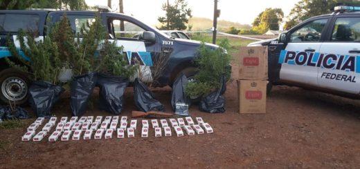La Policía Federal incautó marihuana, armas y cigarrillos en Pozo Azul
