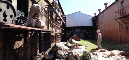 Se incendió un galpón de Romance en San José y estiman que la pérdida fue de 14.000 kilos secos de yerba mate