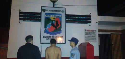 Detuvieron a un joven con frondoso prontuario que cayó tras intentar robar en una casa de Iguazú