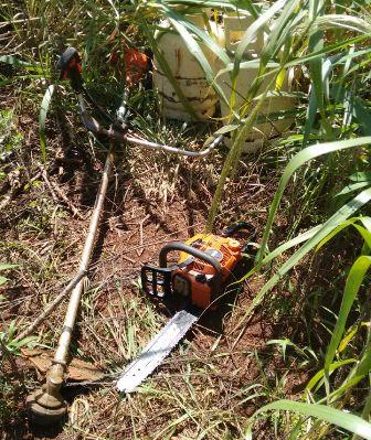 Policías recuperaron objetos robados tras un intenso rastrillaje en el monte