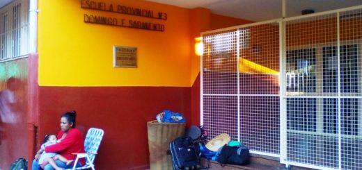 Por la protesta yerbatera no hay clases en la Escuela N°3 Domingo Faustino Sarmiento de Posadas