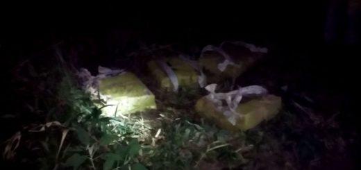 Gendarmería decomisó un cargamento de marihuana abandonado por narcos en General Urquiza