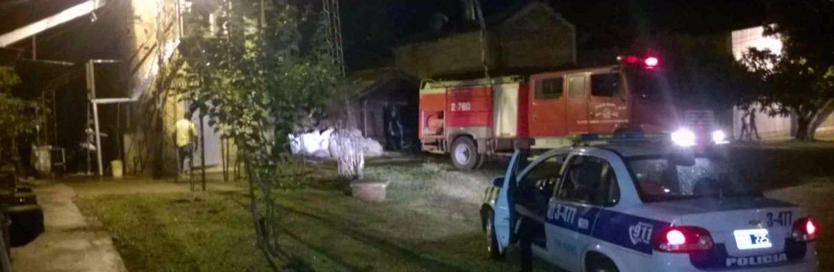 Incendio afectó un establecimiento yerbatero en Apóstoles