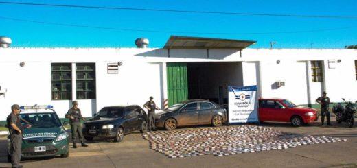 En dos procedimientos cerca de Ituzaingó, secuestraron casi 500 kilos de marihuana